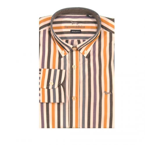 Camicia casual Hamont & Blaine rigata multicolor